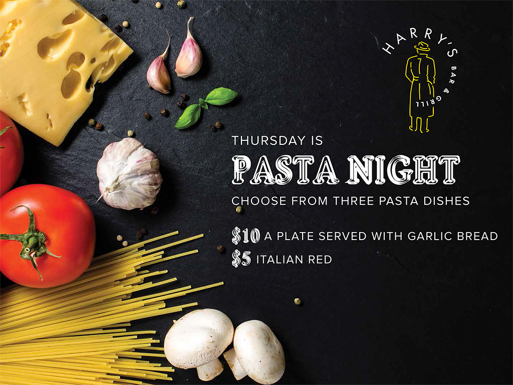 Thursday is PASTA NIGHT